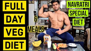 No Eggs, No chicken Full Day of Veg Diet|| Navratri special PURE VEG Diet|6meals full day vlog