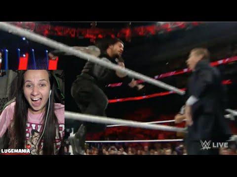 WWE Raw 12/14/15 Roman Reigns vs Sheamus
