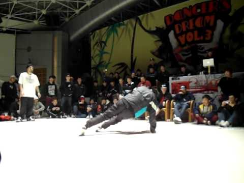 Dance Dream vol 3 China Bboy 1on1  Hertz {Soul Fresh} vs Cheno {99 Flava} tie