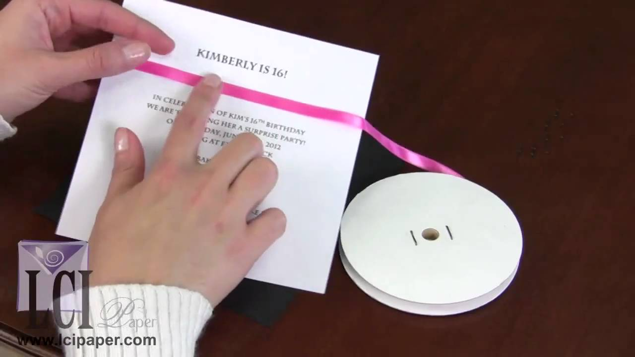 Creative Ways To Decorate An Invitation With Ribbon Youtube