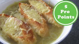 Zwiebelsuppe | 5 Weight Watchers Pro Points | Rezept