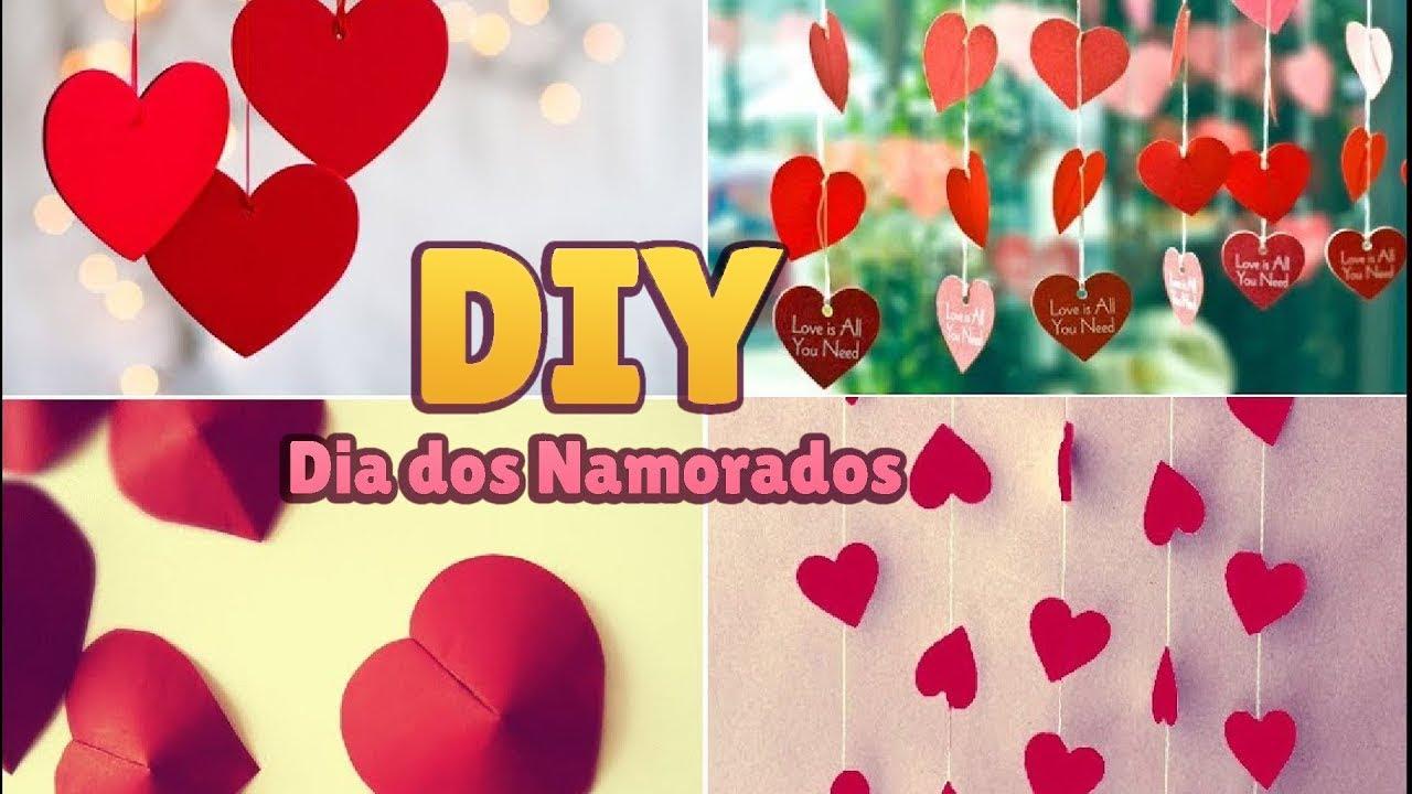 DIY Decoraç u00e3o Simples e Barata para o Dia dos Namorados u2665 (Valentine's Day Decor Ideas) YouTube -> Como Decorar Quarto Pro Dia Dos Namorados