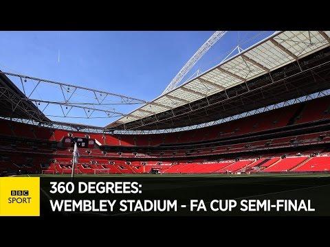360-degree behind the scenes at Wembley - FA Cup semi-final - BBC Sport