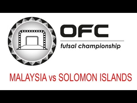 2013 OFC Futsal Championship Invitational Match Day 3 Malaysia vs Solomon Islands