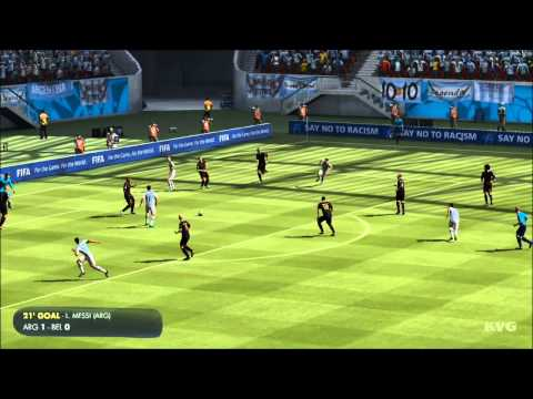 2014 FIFA World Cup Brazil - Argentina vs Belgium Gameplay [HD]