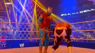 WWE Hell in a cell:Sin Cara vs Sin Cara