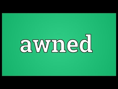 Header of awned