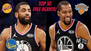 Top 10 NBA Free Agents! (2019 Off-Season!)