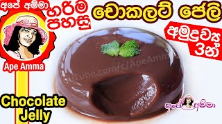 Easy 3 ingredient Chocolate Jelly by Apé Amma