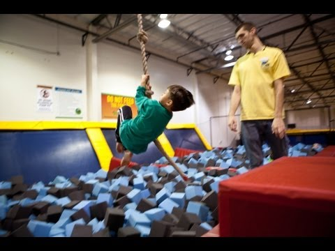 SKY HIGH SPORTS - The Trampoline Place: Evan's 7th Birthday - EPIC FOAM PIT!