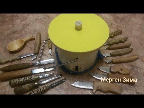 Шлифовальный станок из соковыжималки Точило для ножей DIY