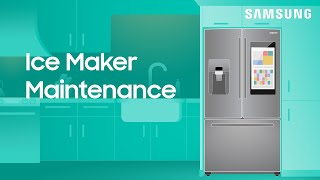 01. How to maintain the ice maker in your Samsung refrigerator | Samsung US