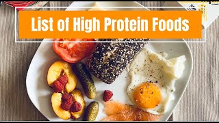 List of High Protein Foods - Top 20 Protein rich food