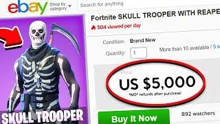BUYING A $5,000 SKULL TROOPER ACCOUNT...? (Fortnite Battle Royale)
