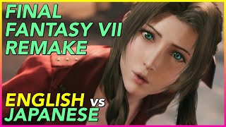 Final Fantasy VII Remake Trailer English versus Japanese comparison (5/9/2019)