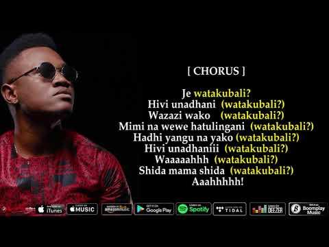 Mbosso - watakubali (Official Lyrics)
