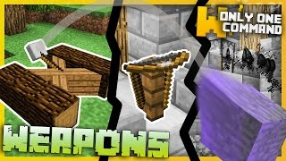 Minecraft - Medieval Weapons with Only Two Command Blocks - Catapults, Crossbows & more!