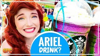 NEW SECRET STARBUCKS MERMAID FRAPPUCCINO DRINK REACTION | TASTE TEST