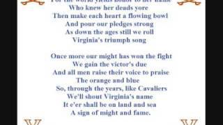 Virginia Cavs Fight Song