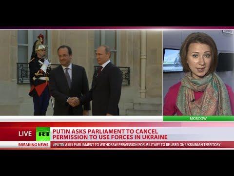 Putin asks senate to revoke right to use military force in Ukraine
