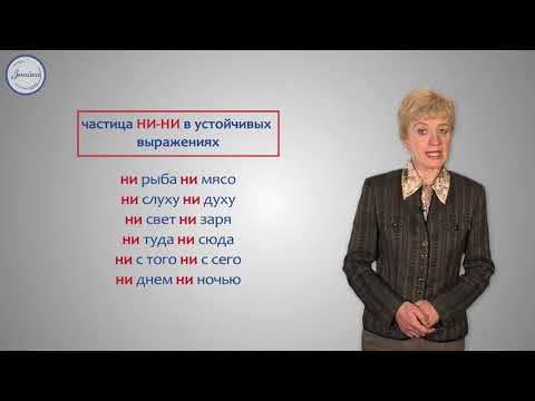 Правописание частиц НЕ и НИ 7 класс