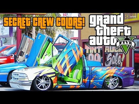 Gta Online Crew Colors ▶ Gta Online Secret Crew