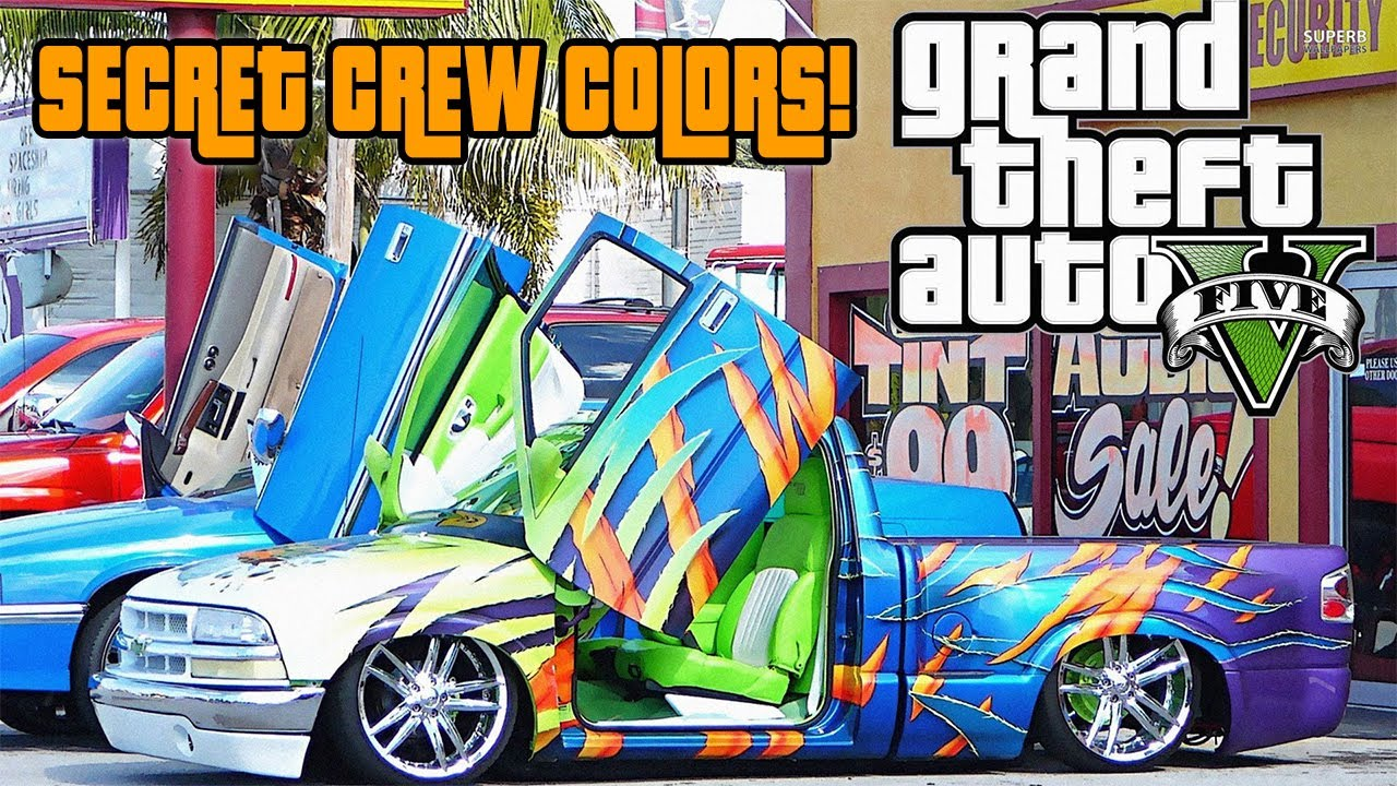 Gta Online Crew Colors Gta Online Secret Crew Color