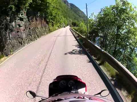 Great motorcycle ride-  Hardanger tourist road RV7. Norway- part 1/2.