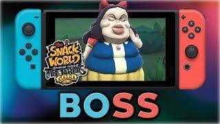 The Snack World: Trejarers Gold | Snow White Mini-BOSS Fight | Nintendo Switch