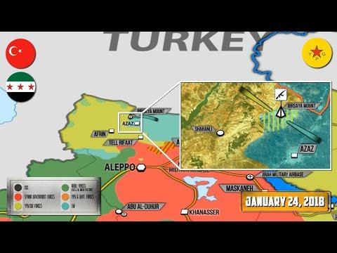 24 января 2018. Военная обстановка в Сирии. Россия развернула новые ЗРК С-400 на своих базах в Сирии