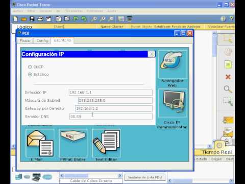 Crear un servidor Web con Packet Tracer CISCO