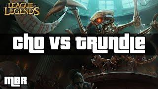 Jurassic Cho'Gath Vs Trundle - Top Lane - League Of Legends - HD