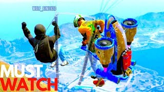 JETPACK BEST MOMENTS EVER FUNNY GTA 5 ONLINE MUST WATCH