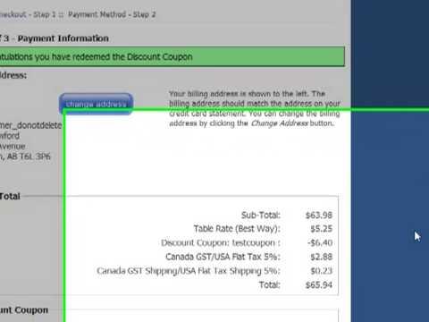 3. Discount Coupon Zen Cart - Dollars vs Percent