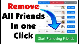 How To Unfriend All Facebook Friends in one Click - Delete all facebook friends 2018