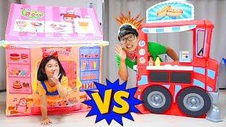 보람 vs 코난 누구 아이스크림 장사가 잘될까요? 푸드카 아이스크림 가게놀이 ICE CREAM Toy Store
