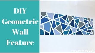 How To Paint A Geometric Accent Wall Feature