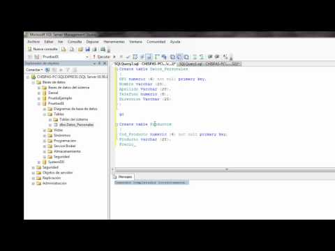 SQL Server 2008 creación base de datos