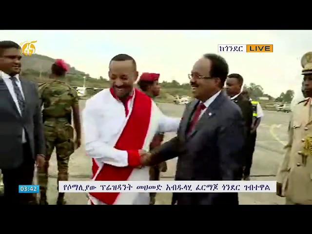 Eritrean, Somalia Presidents Arrive In Ethiopia