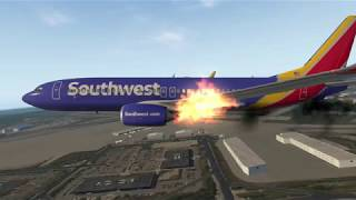 X Plane 11 - Southwest Airlines Emergency River Landing In Pittsburgh