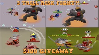 [RSPS] SpawnPK: RISK FIGHT FOR 3 TRILL?! PvM & $100 Giveaway + RESULTS