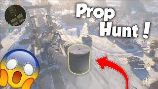 I WAS ON TOP OF THE GUSTAV CANNON! 😱 - (COD WW2 PROP HUNT FUNNY MOMENTS)