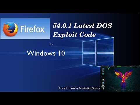 Denial of Service |DOS Attack on Window 10|Firefox 54.0.1 DOS Code|Apache Web Service |Parrot Sec OS