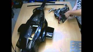 Vario Mechanik Umbau  - RC Helicopter - Scale 800 Airwolf vom Benzin-  zum Elektro -Antrieb