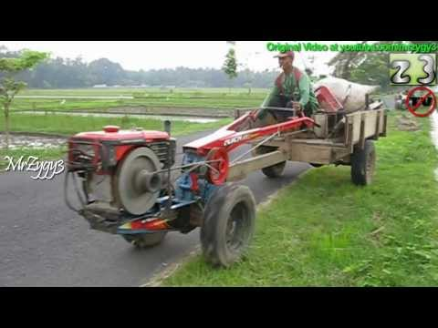 Yanmar Two Wheel tractor Riding Back To Garage
