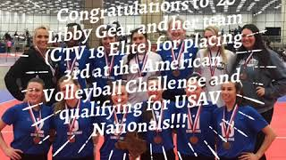 Congratulations to '20 Libby Gear and her team (CTV 18 Elite) for placing 3rd at the American Volle…
