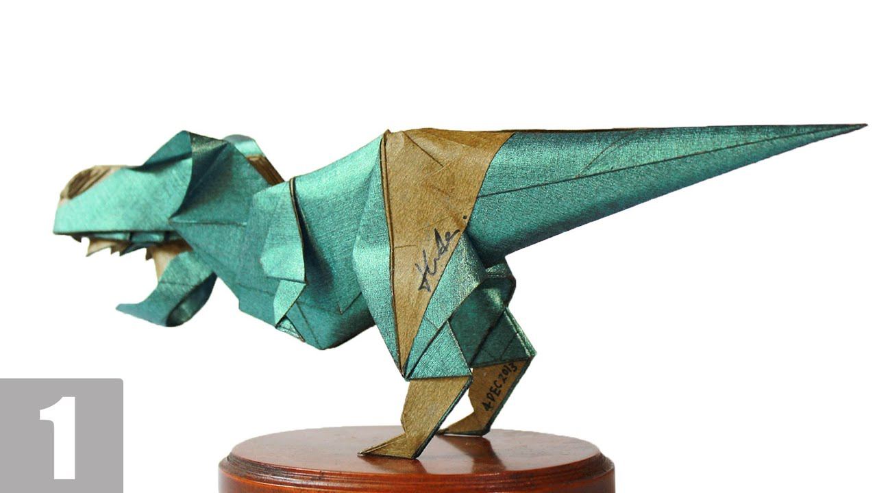 Как сделать тиранозавра в оригами