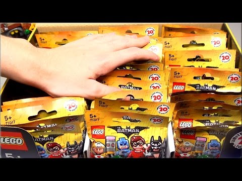 LEGO Minifigures Бэтмен обзор и коробка всех минифигурок