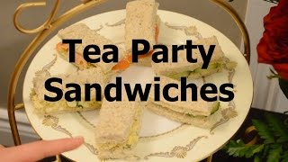 Afternoon Tea Party Sandwiches Recipes Vegetarian