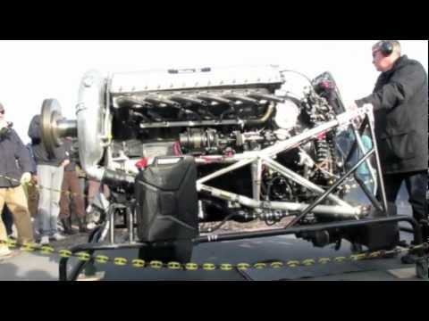 Rolls-Royce Merlin V12 Engin start up
